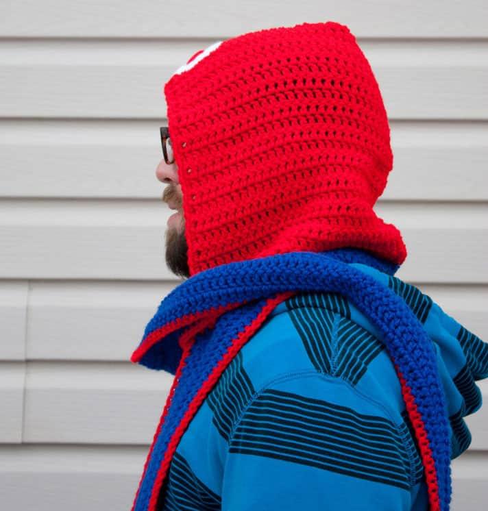 Fallen Designs Super Mario Bros Scoodie Fashion Accessory