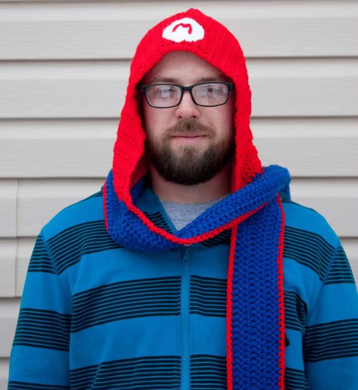 Fallen Designs Super Mario Bros Scoodie Geek Gift Idea