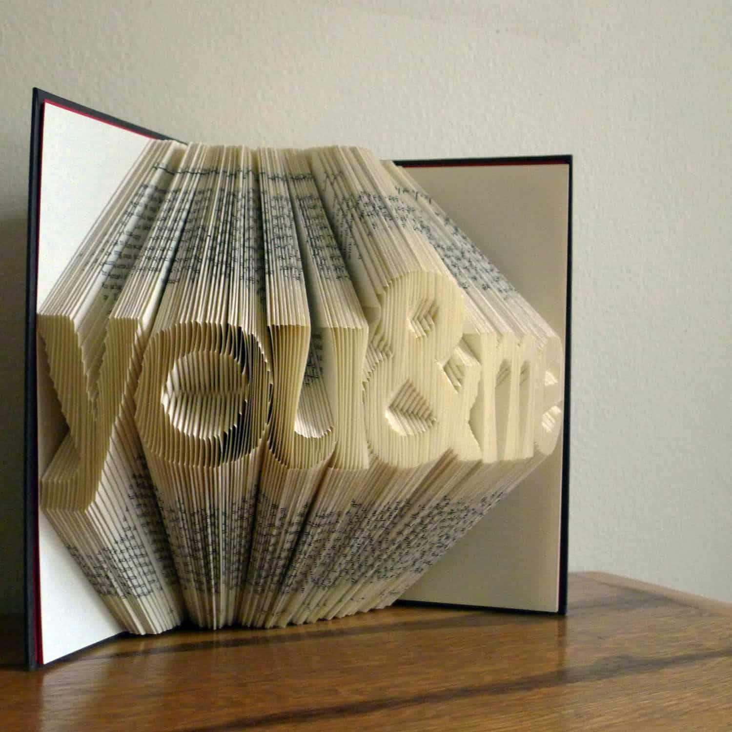 Folded Book Art Sculpture By Luciana Frigerio Anniversary Gift