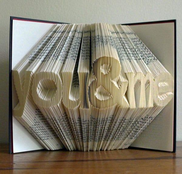 Folded Book Art Sculpture By Luciana Frigerio Book Art