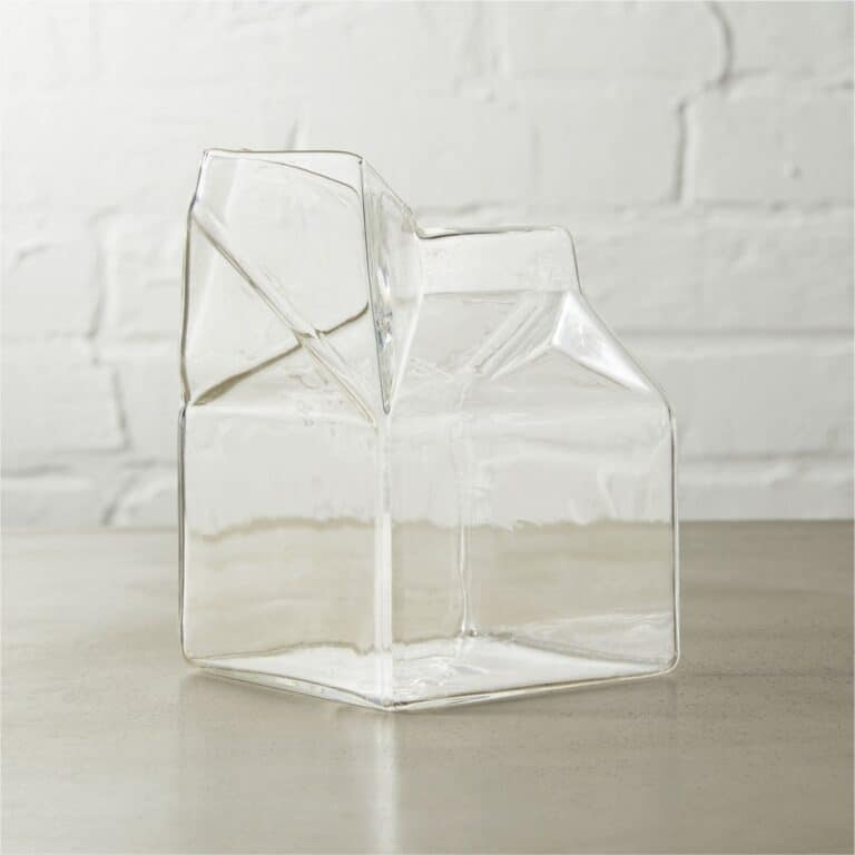 Half Pint Glass Milk Carton Creative Product