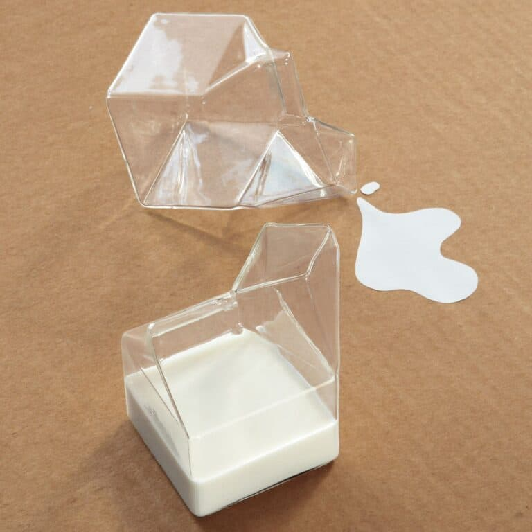 Half Pint Glass Milk Carton Cute Kitchen Stuff