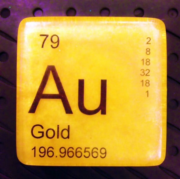 Just Bubbly It is Elementary Periodic Table Soap Gold