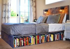 Bookworm worthy bed.