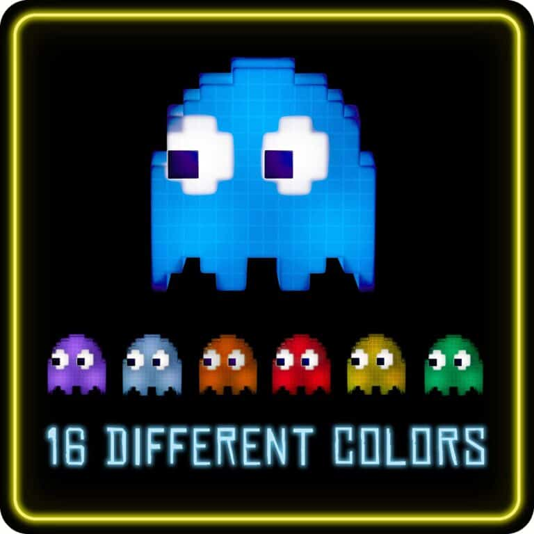Paladone Pac-Man Ghost Light 16 Different Colors