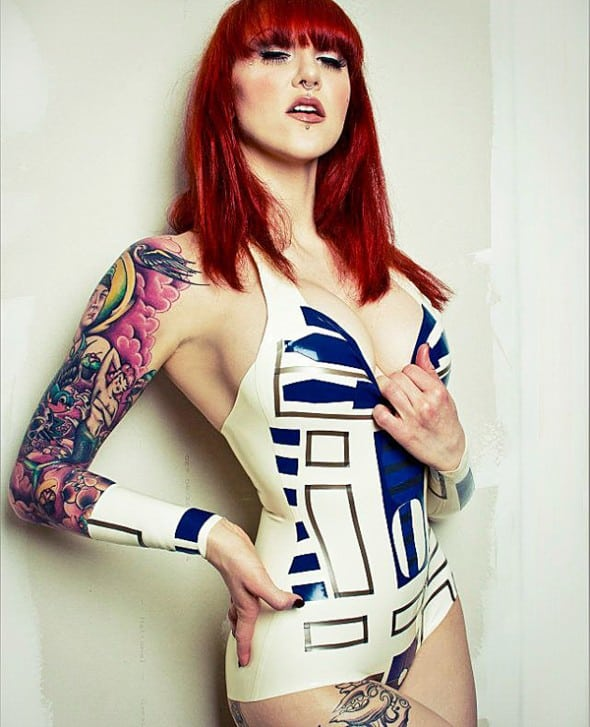 Shhh! Couture R2D2 Inspired Bodysuit Starwars Geek Wear