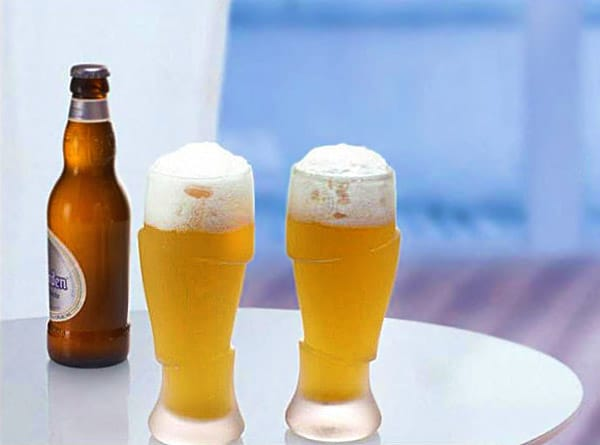 Sliced Cold Beer Glasses Cool Gift for Him