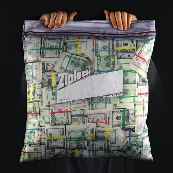 Steelplant Cash in Ziplock Pillowcase Baller Gift
