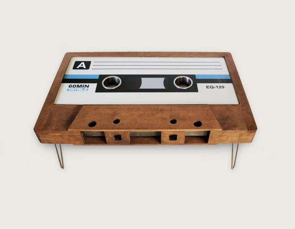 214 Graffiti Classic Cassette Tape Coffee Table Cool Furniture to Buy