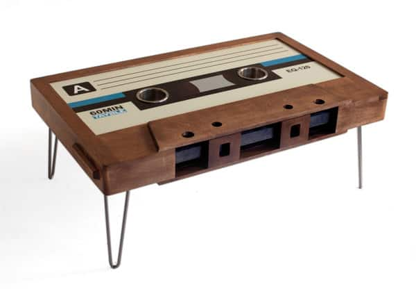 214 Graffiti Classic Cassette Tape Coffee Table Unique Furniture to Buy
