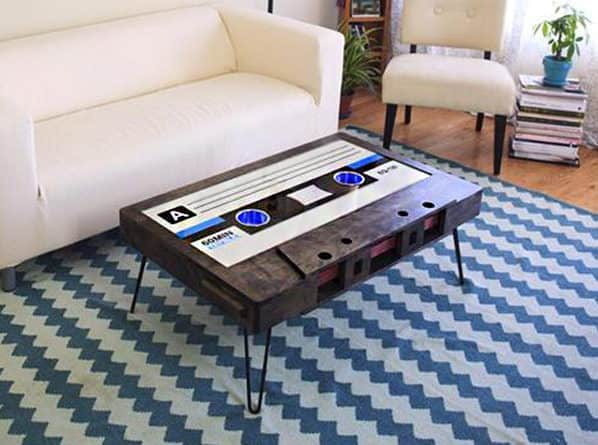 214 Graffiti Classic Cassette Tape Coffee Table