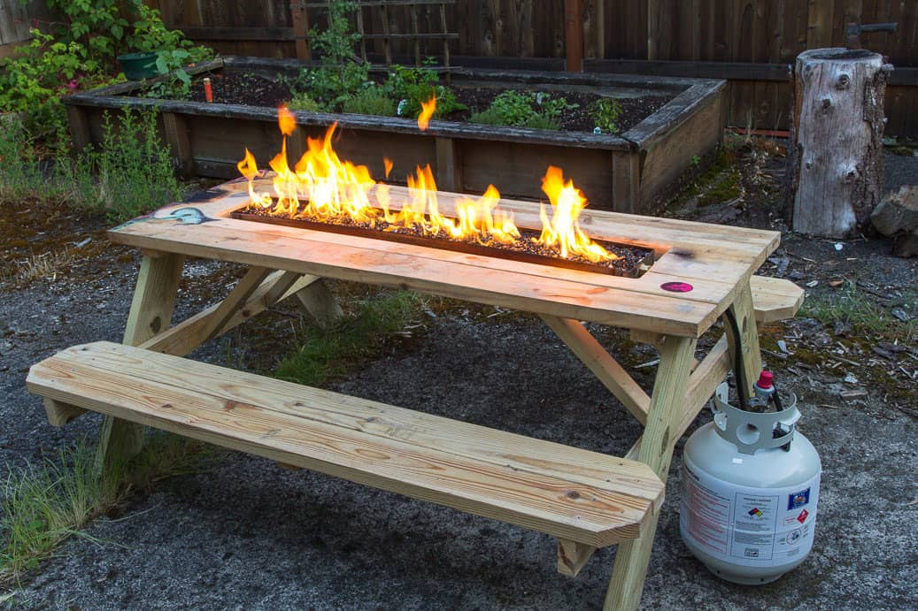 Arson for Hire Fire Pit Picnic Table - NoveltyStreet