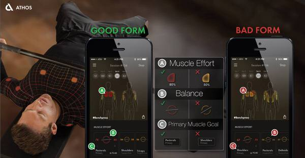 Athos Biotmetric Sports Wear Sync with iPhone