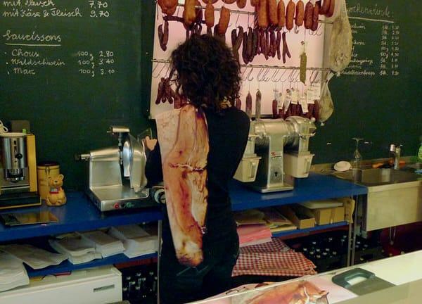 Bacon Scarf by Natalie Luder Meat Wear