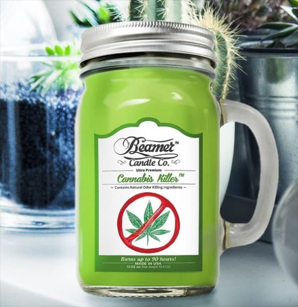 Beamer Candle Co. Cannabis Killer Jar Candle Remove Weed Scent