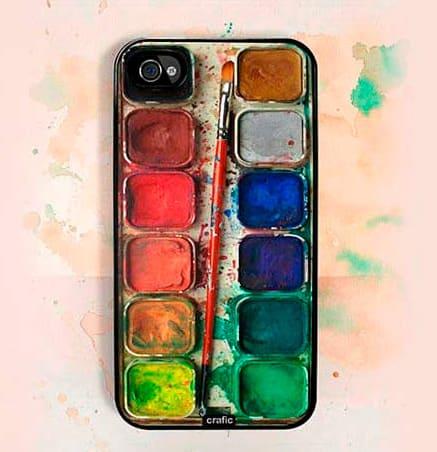 Crafic Watercolor Set iPhone Case Realistic Design