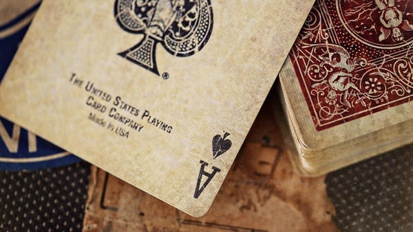 Ellusionist Vintage Bicycle 1800 Marked Playing Cards Ace of Spades