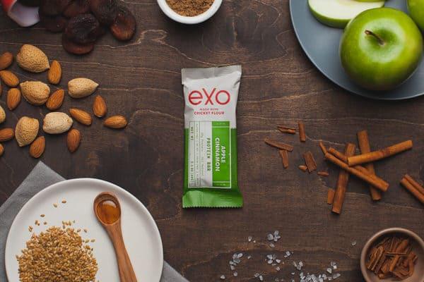Exo Cricket Flour Protein Bars Apple Cinnamon