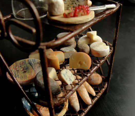 Fairchildart Dollhouse Miniature Food Bakers Rack Gift for Little Girl