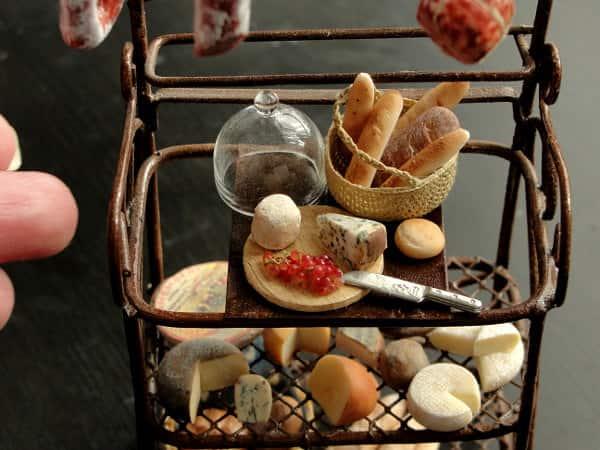 Fairchildart Dollhouse Miniature Food Bakers Rack Made of Polymer Clay