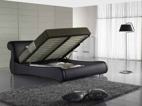 Greatime Bed with Hidden Storage Space Minimalist