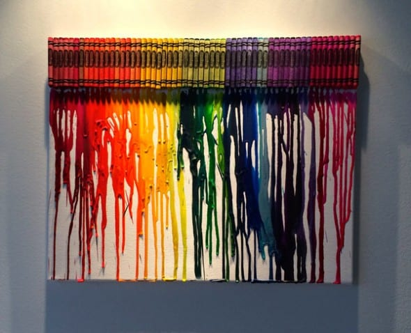 I Want Thattt Melted Crayon Art Colorful Artwork