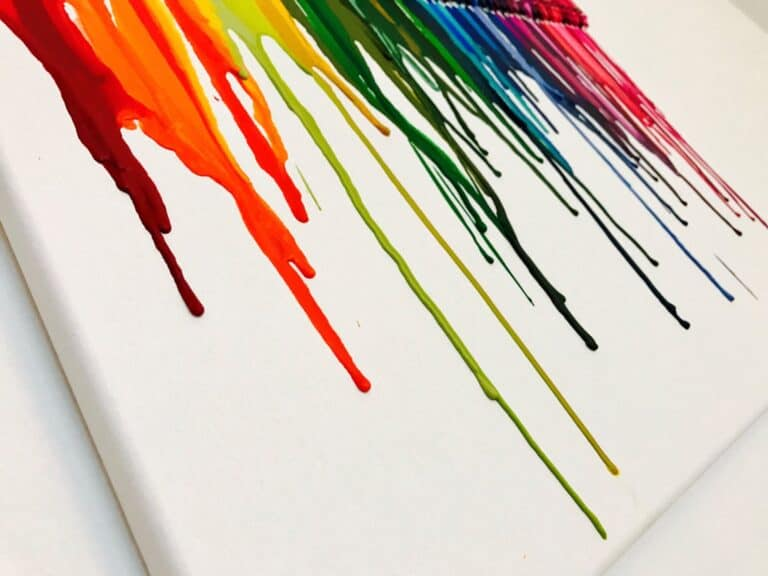 I Want Thattt Melted Crayon Art Wax Drip Detail