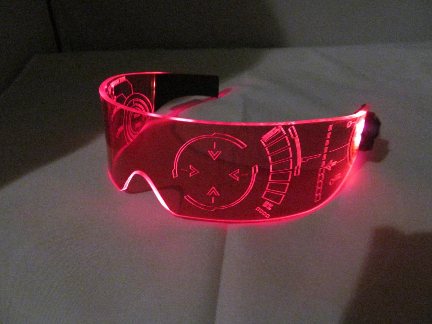 Illumination Cyber Wear Illuminated Cyber Goth Visor Awesome Stuff to Buy