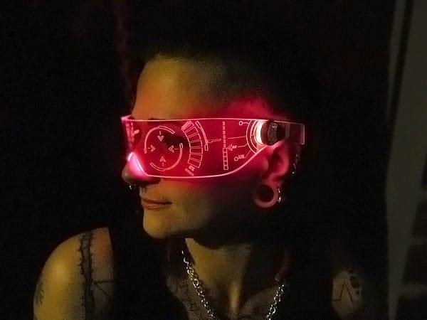 Illumination Cyber Wear Illuminated Cyber Goth Visor Buy Cool Rave Party Accessory