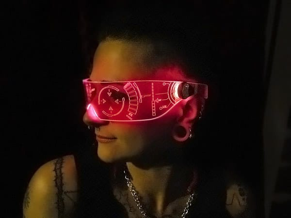 Illumination Cyber Wear Illuminated Cyber Goth Visor Cool Rave Party Accessory to Buy