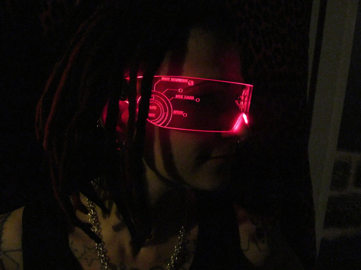 Illumination Cyber Wear Illuminated Cyber Goth Visor Futuristic Fashion Wear