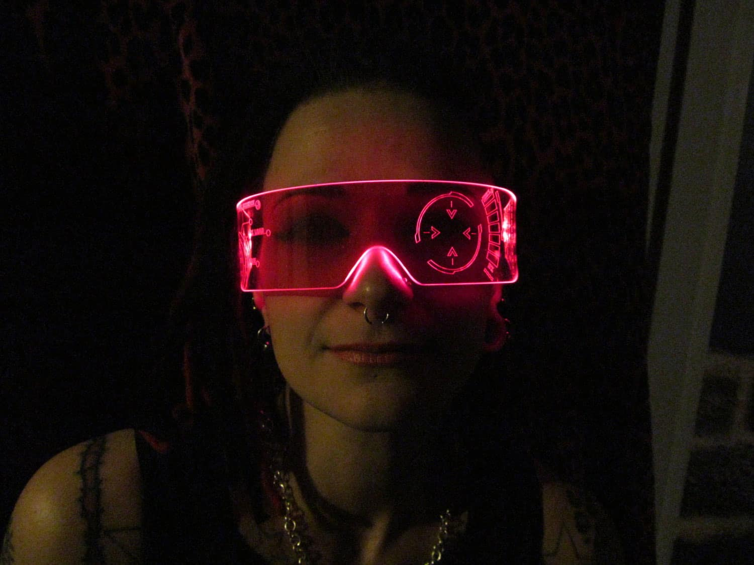 Illumination Cyber Wear Illuminated Cyber Goth Visor Like Iron Man