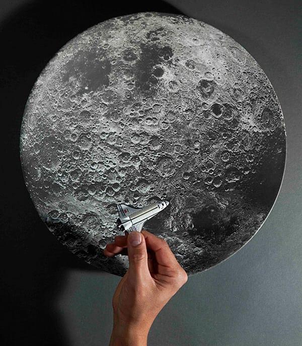 Kikkerland Moon Melamine Serving Bowl Creative Designer Plate