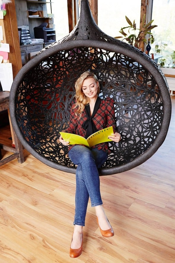 Maffam Manu Nest Compact Hanging Chair Exotic Furniture to Buy