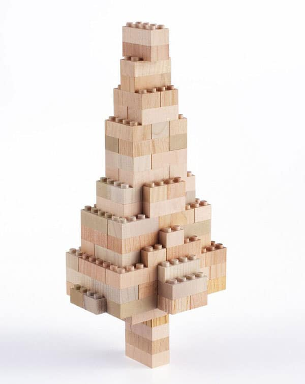 Mokulock Wooden Building Blocks Christmas Tree