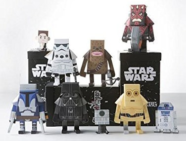 Momot Starwars Darth Vader Paper Craft Figure Complete Set