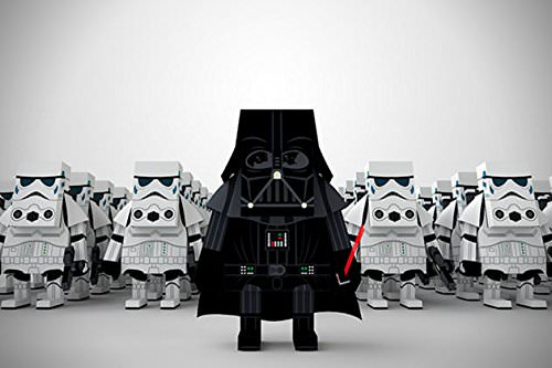 Momot Starwars Darth Vader Paper Craft Figure Cute Art Toy