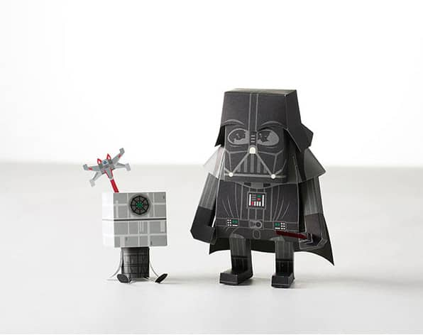 Momot Starwars Darth Vader Paper Craft Figure Funny Art Toy