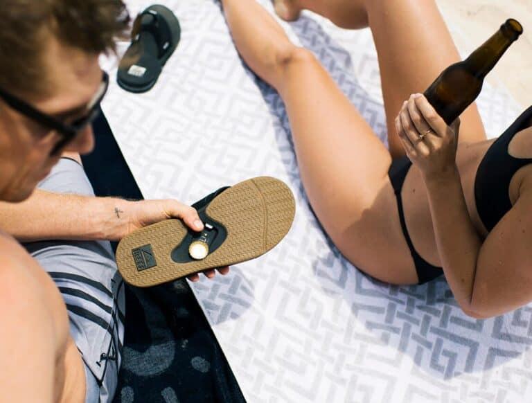 Reef Fanning Sandals Beer Opening Footwear