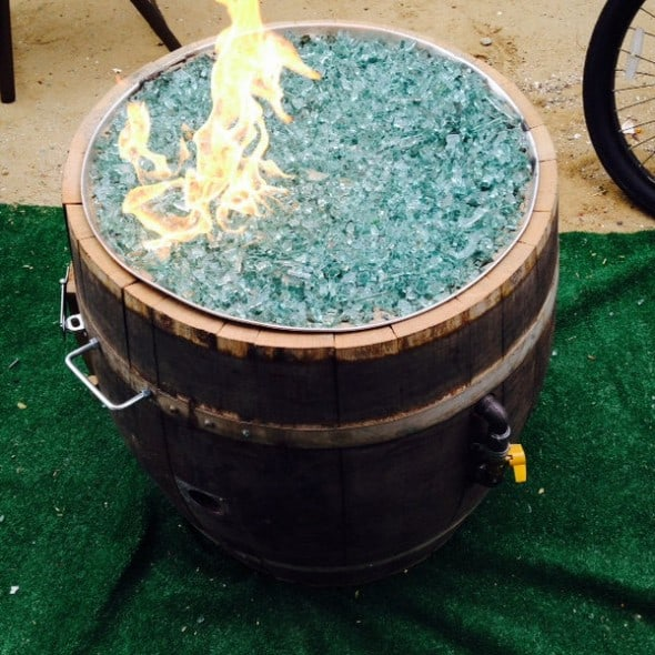 Smokin Barrel Works Whiskey Barrel Fire Pit Country Furniture