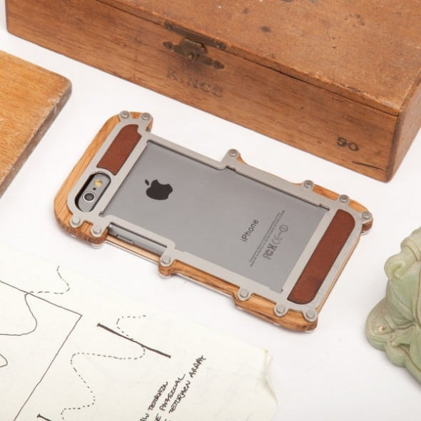 Stone Jelly Wood with Steel Frame iPhone Case Cool Gift to Buy for Teenagers