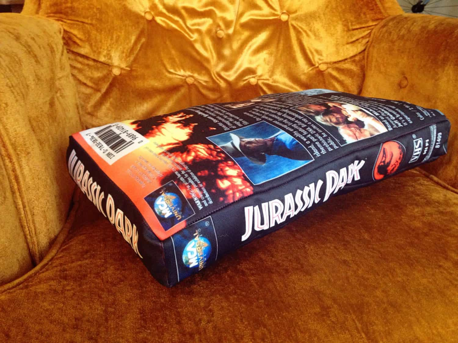 The UFO Party Oversized VHS Pillow Retro Gift Idea