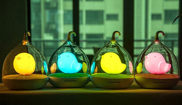 Touch Control Bird LED Night Lamp Colorful Glow
