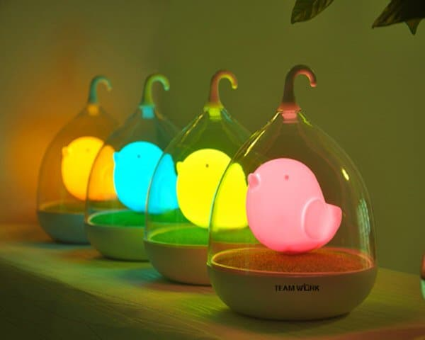 Touch Control Bird LED Night Lamp Colorful Lights
