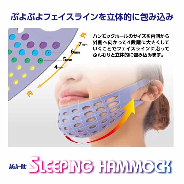 Aga-Ru Sleeping Hammock Face Lift Up Mask Pulls Skin
