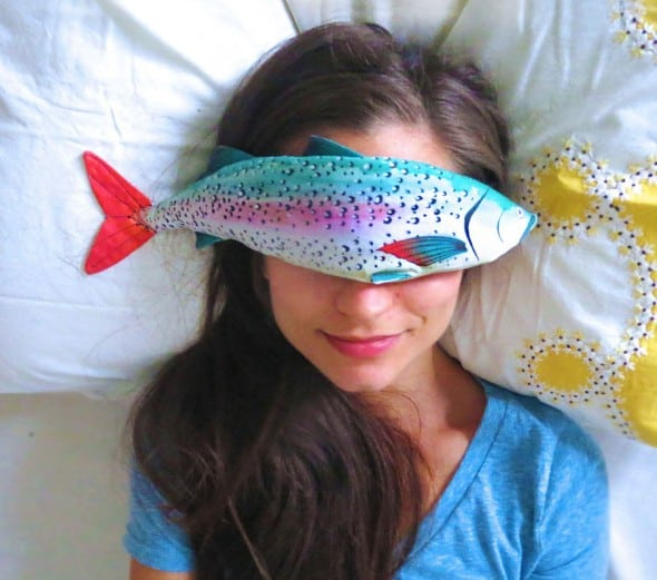 Sleep better with a fish on your face.