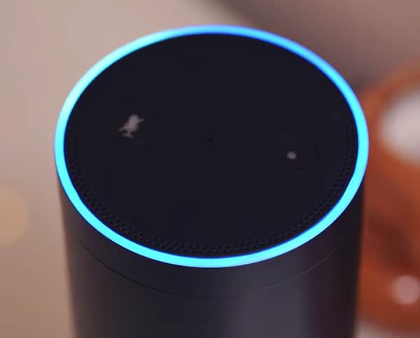 Amazon Echo Blue Circular Light