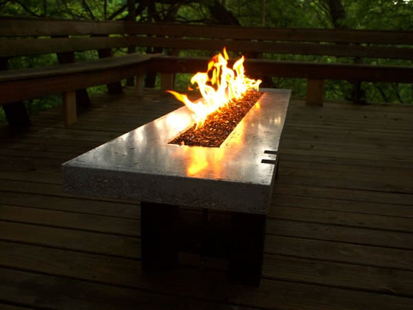 BSquared Inc Fire Pit Fire Table Modern Campfire