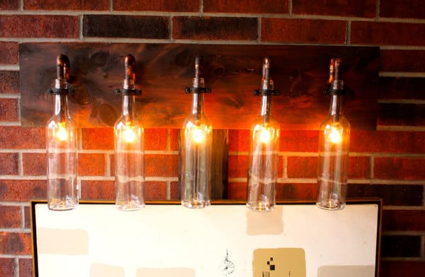 BSquared Inc Wine Bottle Light Lamp Steampunk Interior Idea