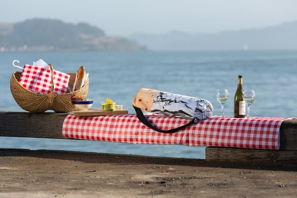 Brogamats Burrito Yoga Bag Picnic by the Sea